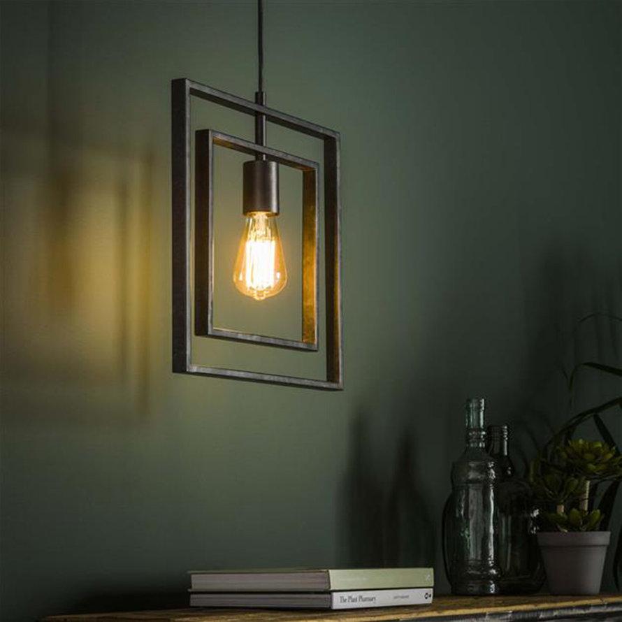 Industriële hanglamp Mick charcoal 1-lichts