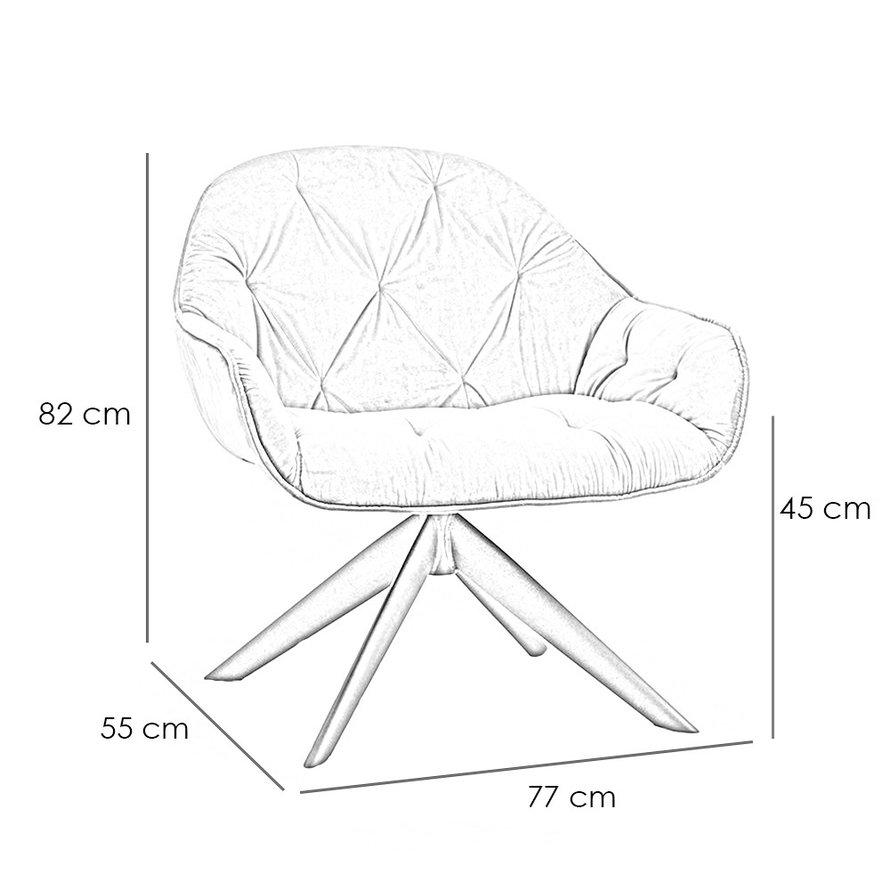 Velvet fauteuil Mila okergeel