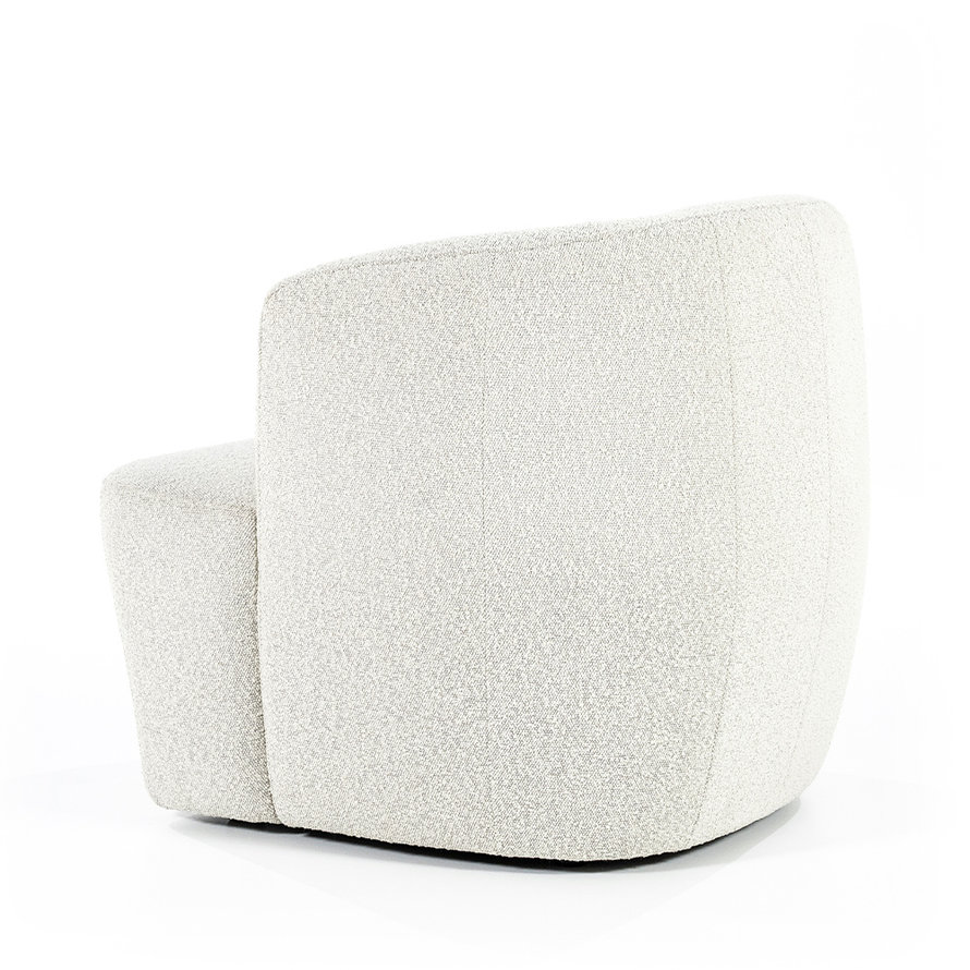 Boucle fauteuil Diana wit stof