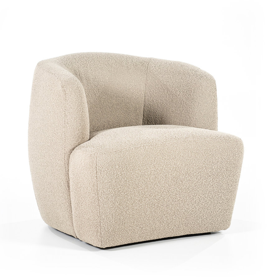 Boucle fauteuil Diana taupe stof