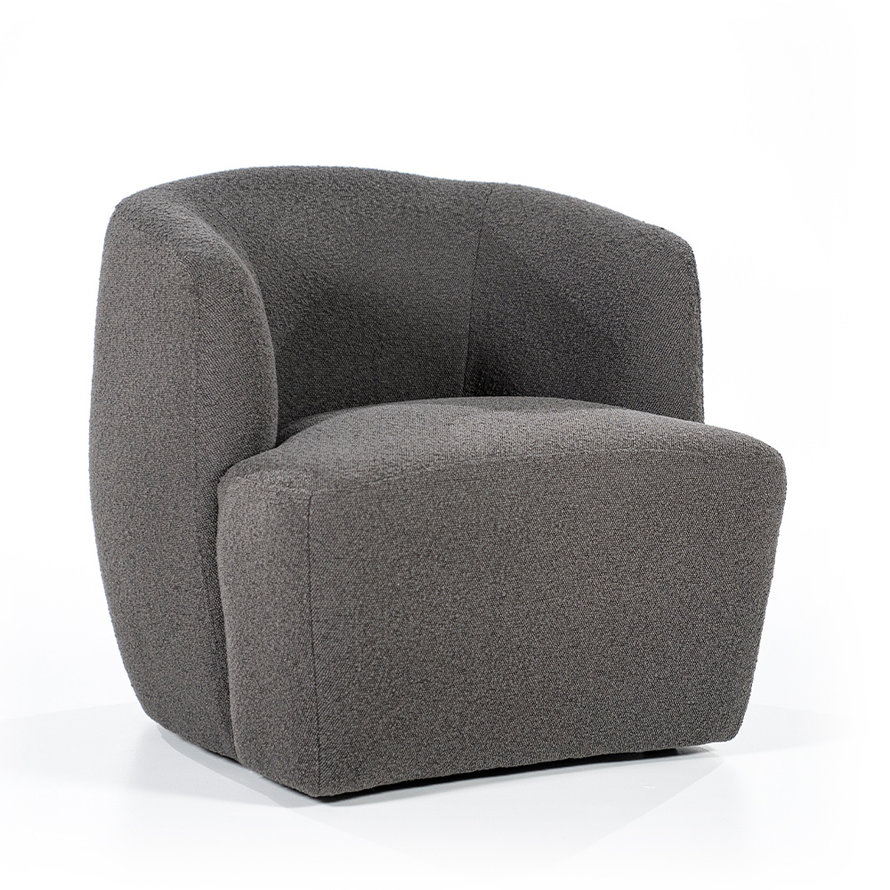 Boucle fauteuil Diana antraciet stof