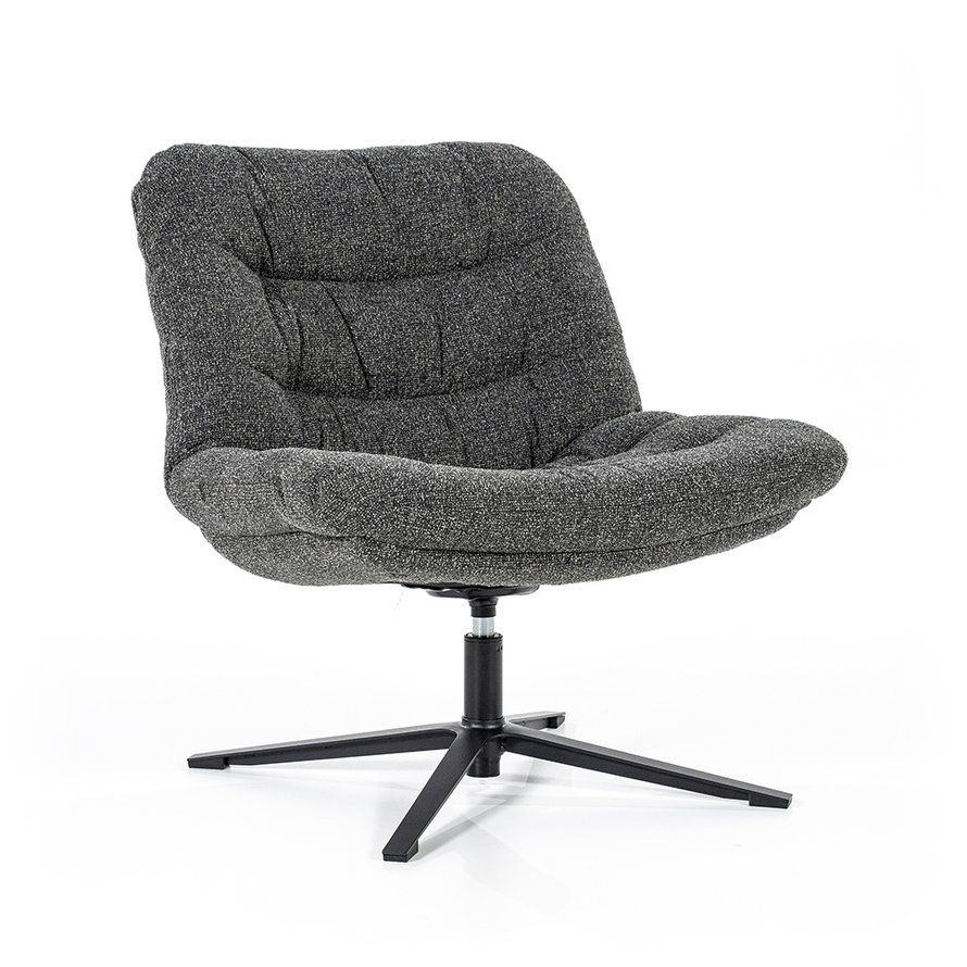 Boucle fauteuil Towa antraciet stof