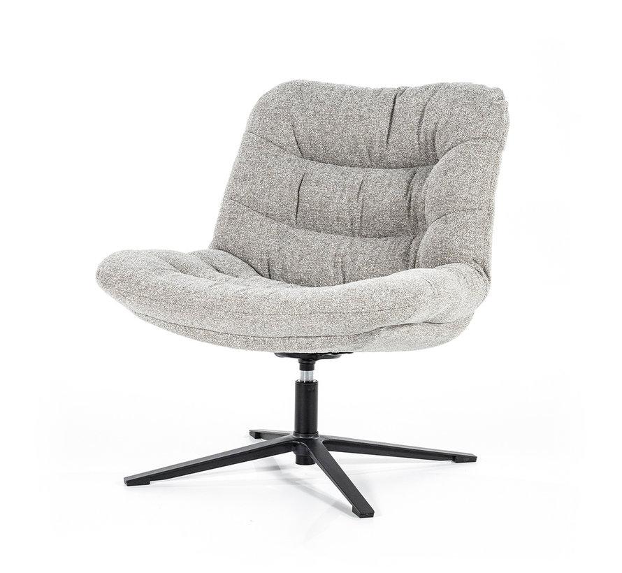 Boucle fauteuil Towa lichtgrijs stof