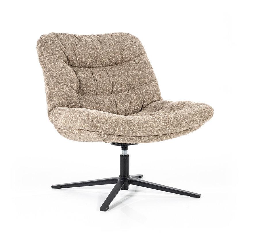 Boucle fauteuil Towa beige stof