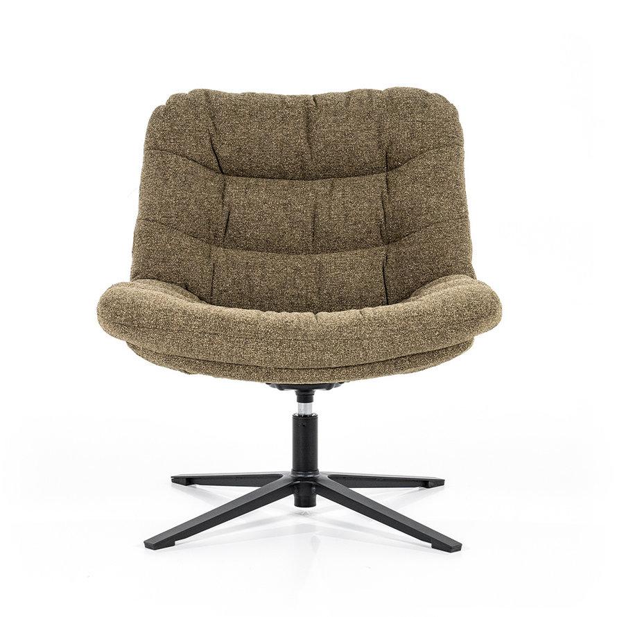 Boucle fauteuil Towa groen stof