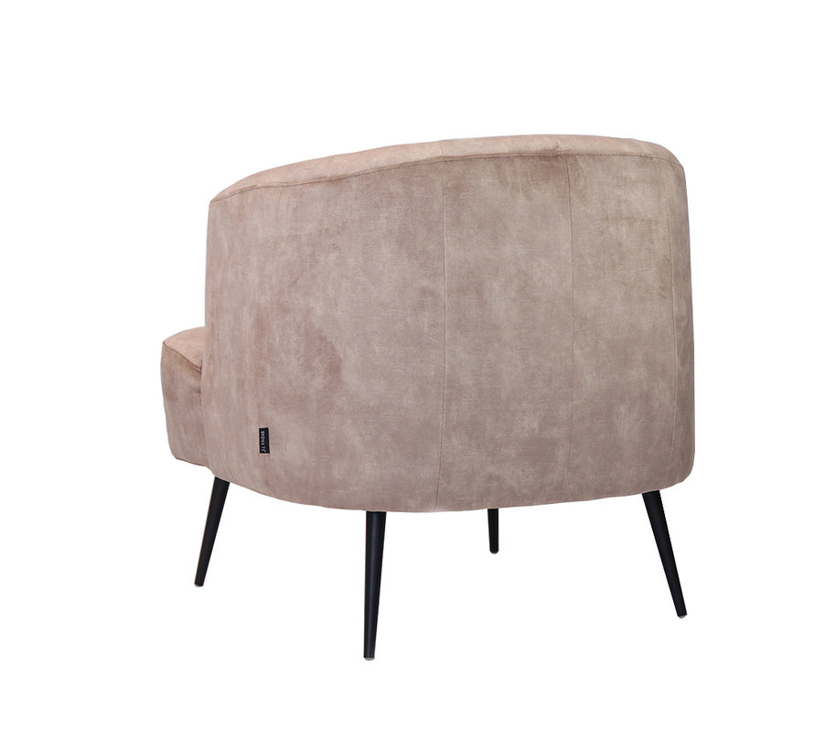 Velvet fauteuil Billy taupe