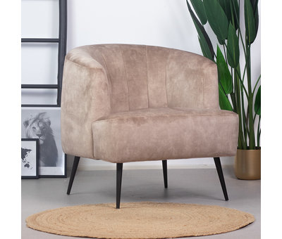 Bronx71 Velvet fauteuil Billy taupe