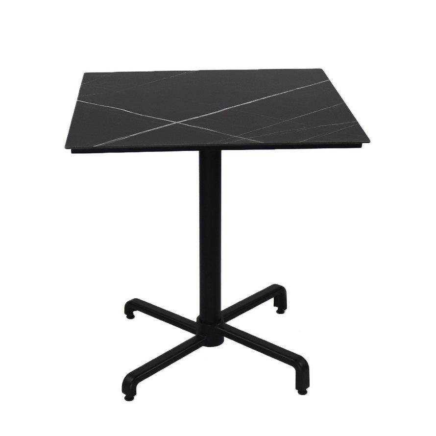 Inklapbare tafel Duuk steen 70 x 70 cm