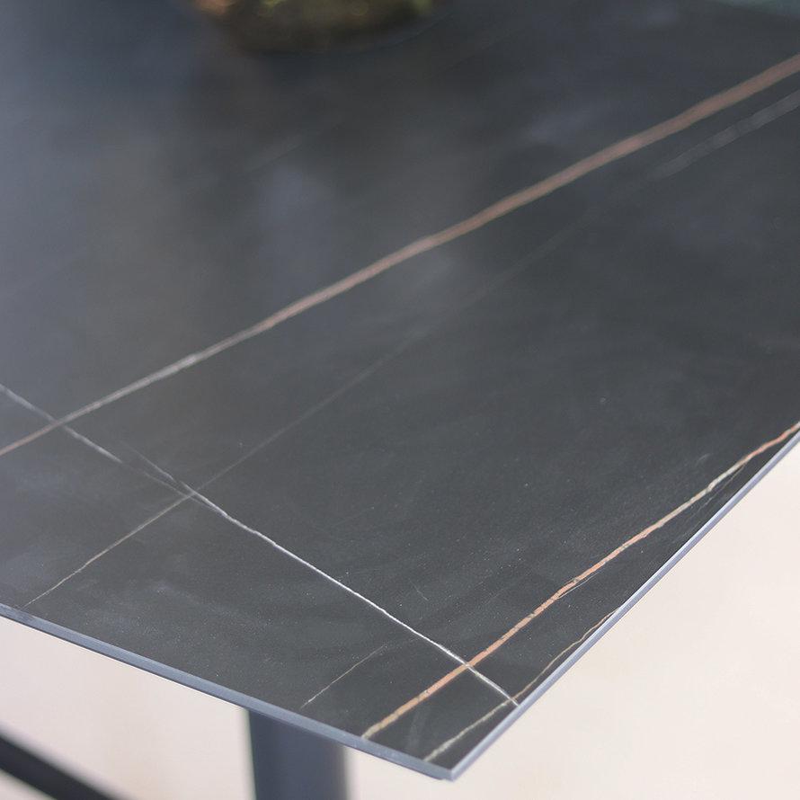 Inklapbare tafel Duuk marmer 70 x 70 cm