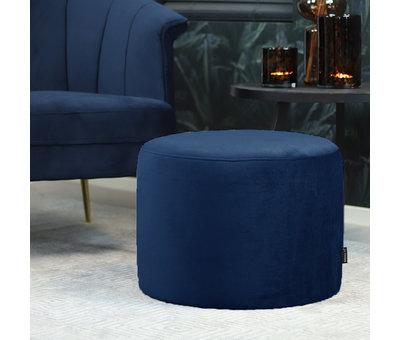 Bronx71 Velvet fauteuil Amy donkerblauw