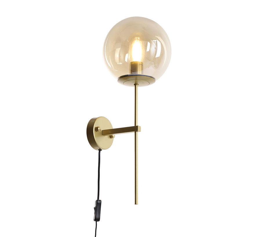 Wandlamp Up 1-lichts Amber