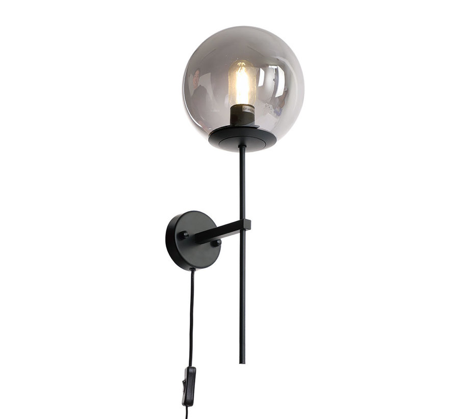 Wandlamp Vita 1-lichts Smoke