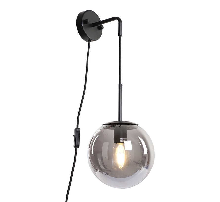 Wandlamp Else 1-lichts Smoke