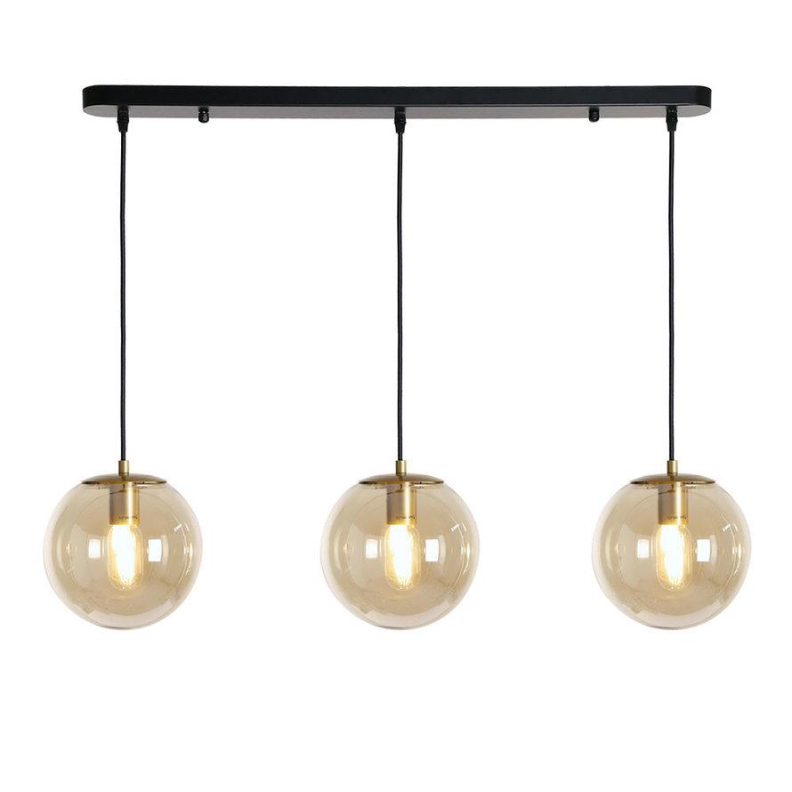 Hanglamp Mariel 3-lichts Amber