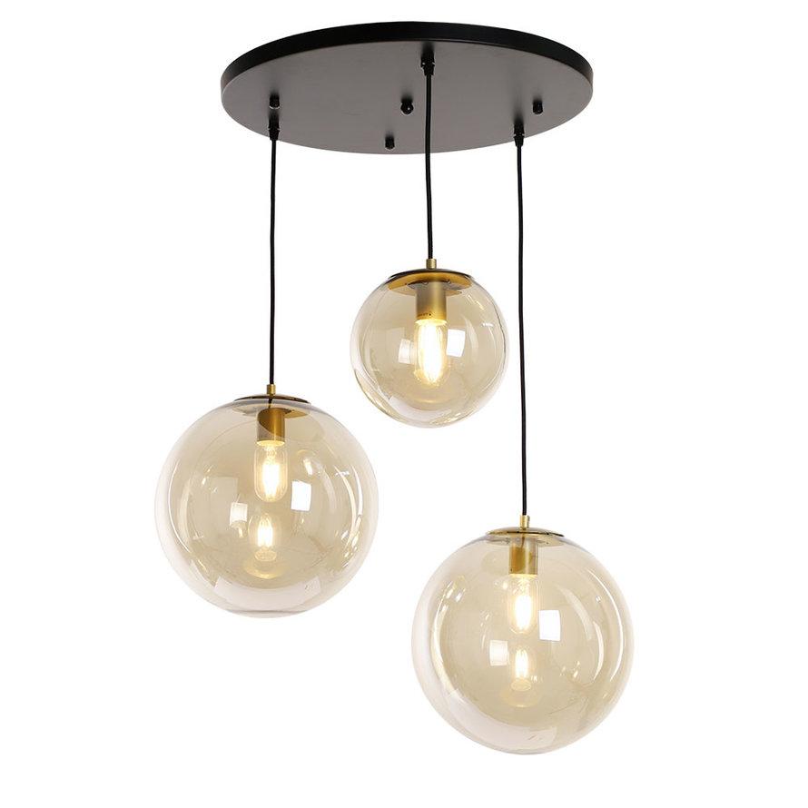 Hanglamp Alvin 3-lichts Amber