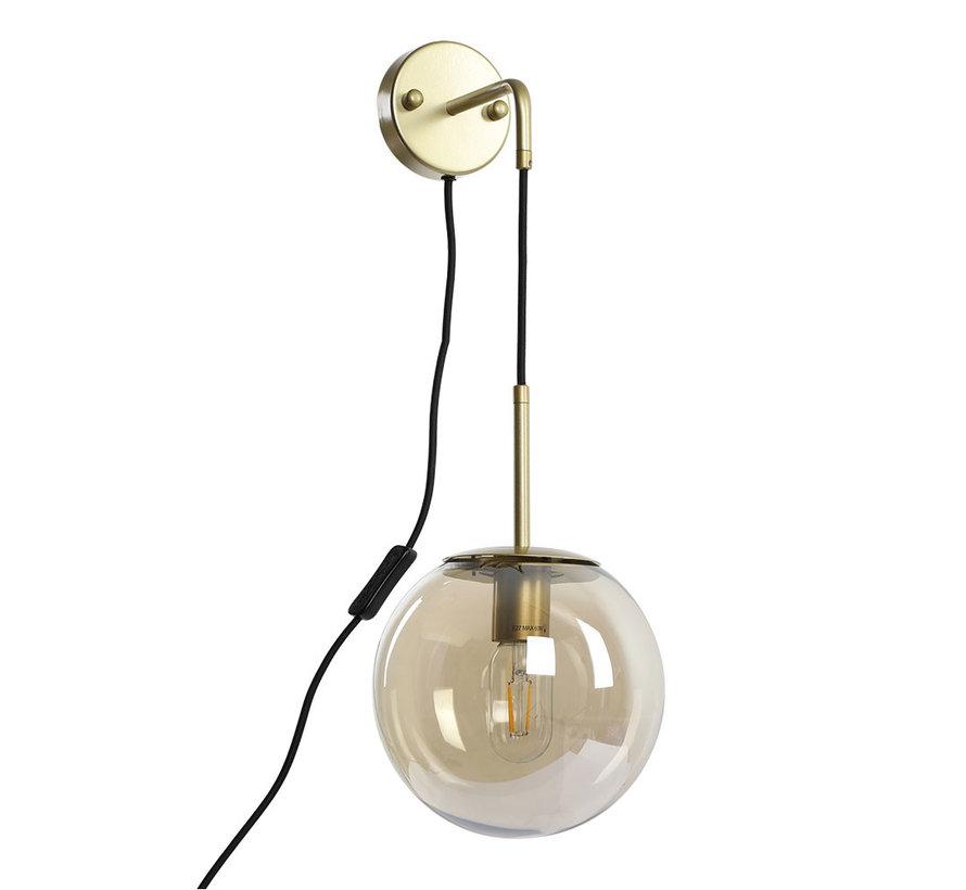 Wandlamp Else 1-lichts Amber