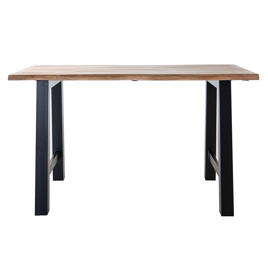 Industriële bartafel Joah acaciahout 195 x 80 cm