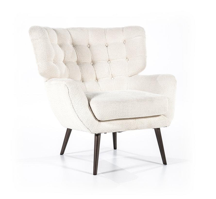Bouclé fauteuil Niek wit