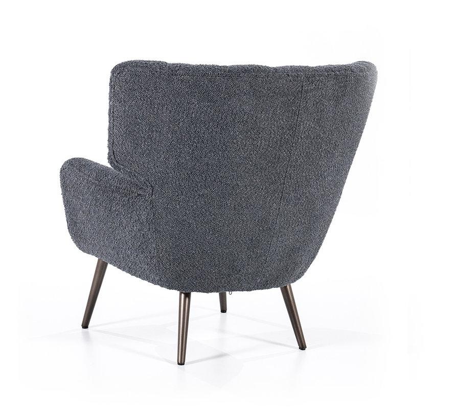 Bouclé fauteuil Niek zwart