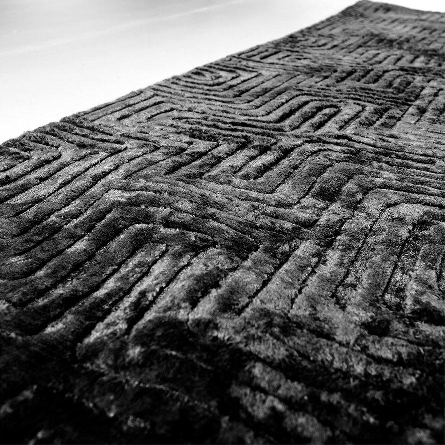 Vloerkleed Luan zwart 160x230 cm