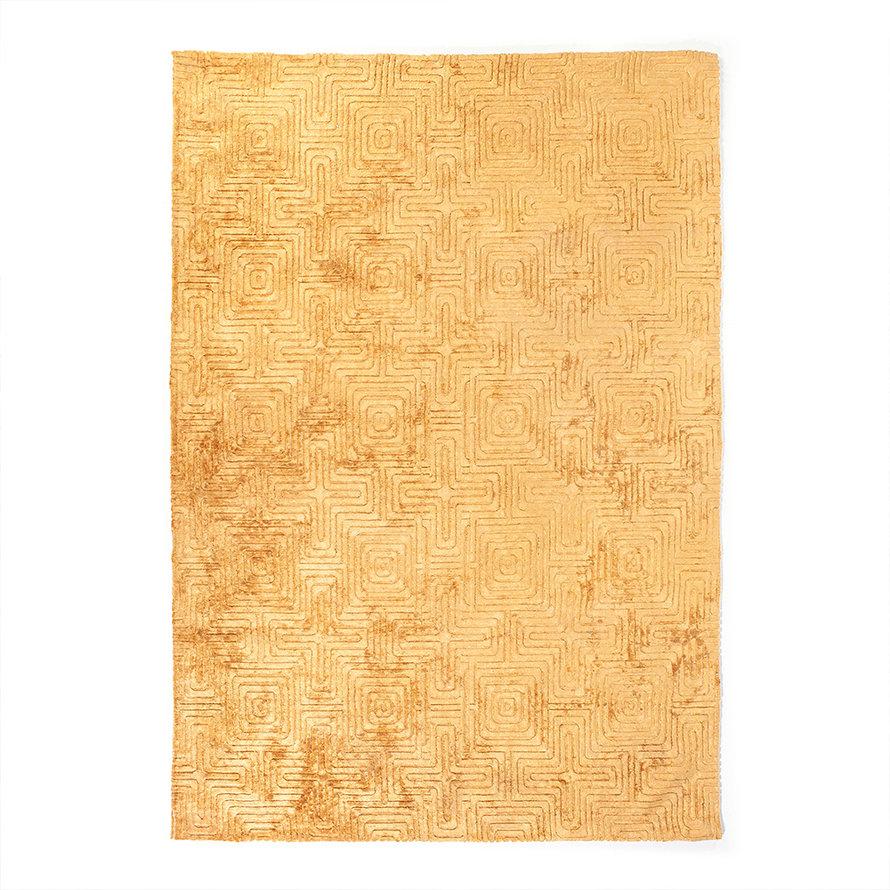 Vloerkleed Luan geel 160x230 cm