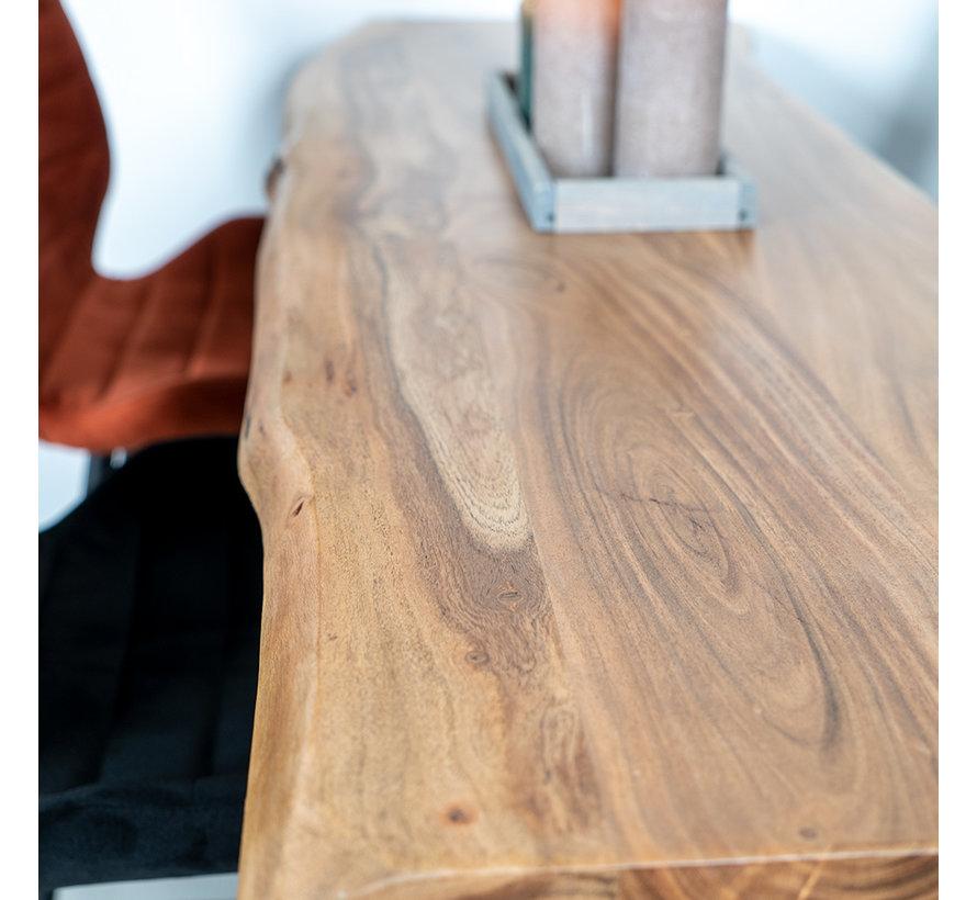Industriële bartafel Joah acaciahout 150 x 50 cm