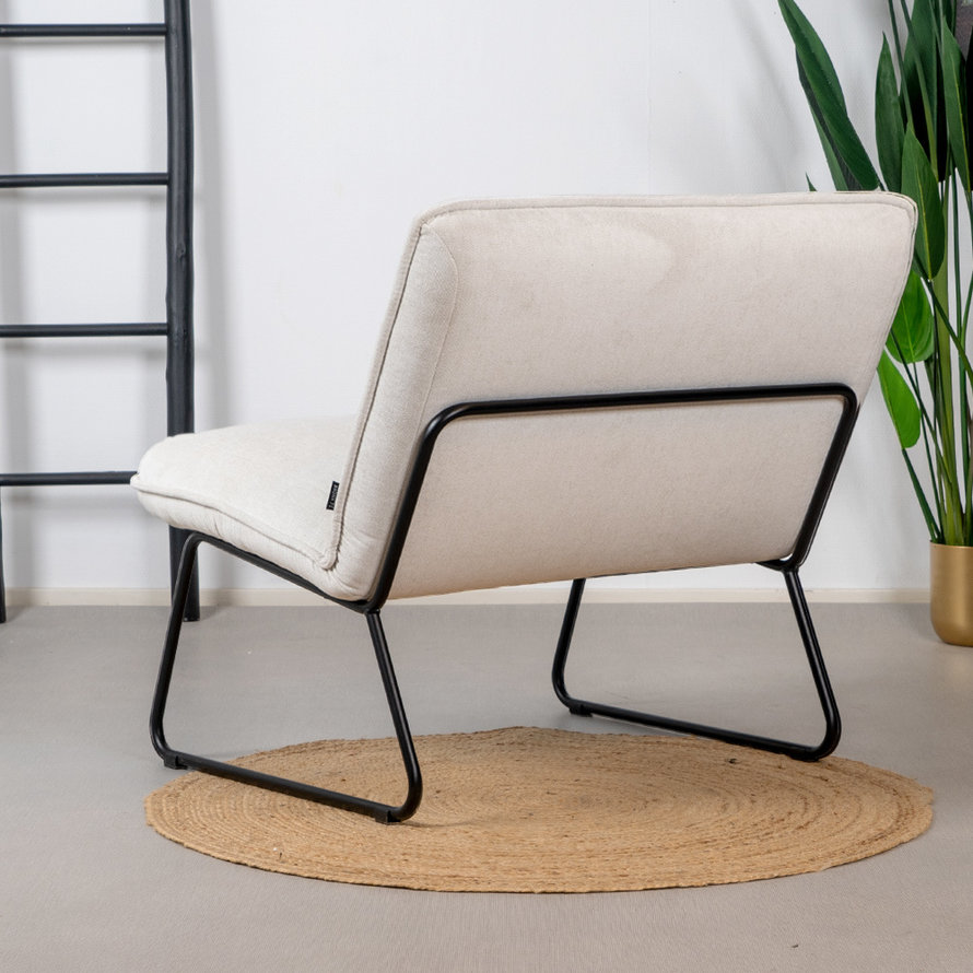 Fauteuil Merle wit stof