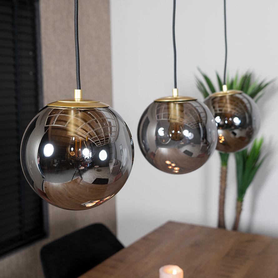 Hanglamp Mariel 3-lichts Smoke