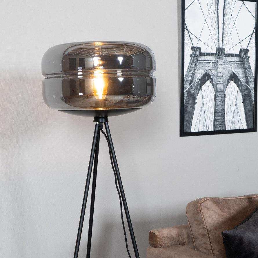 Vloerlamp Lone 1-lichts Smoke