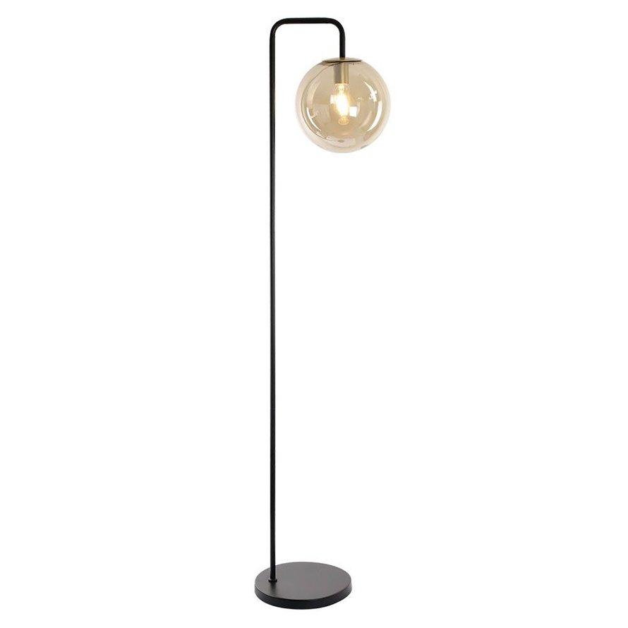 Vloerlamp Ebba 1-lichts Amber