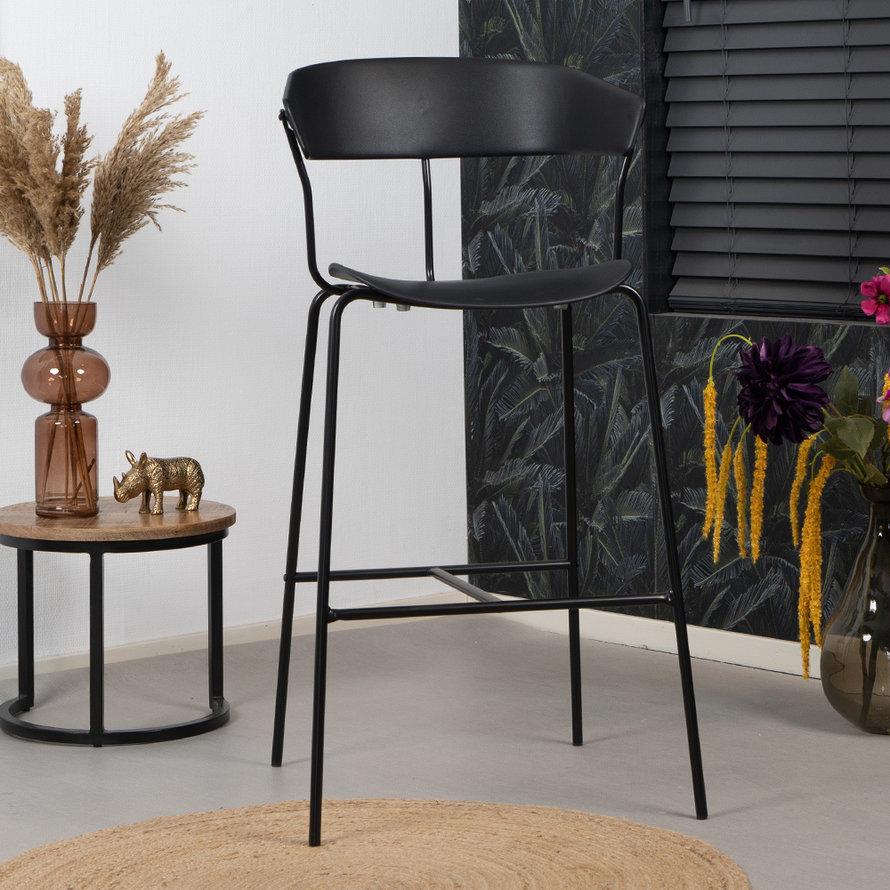 Scandinavische barkruk Olea zwart 77 cm