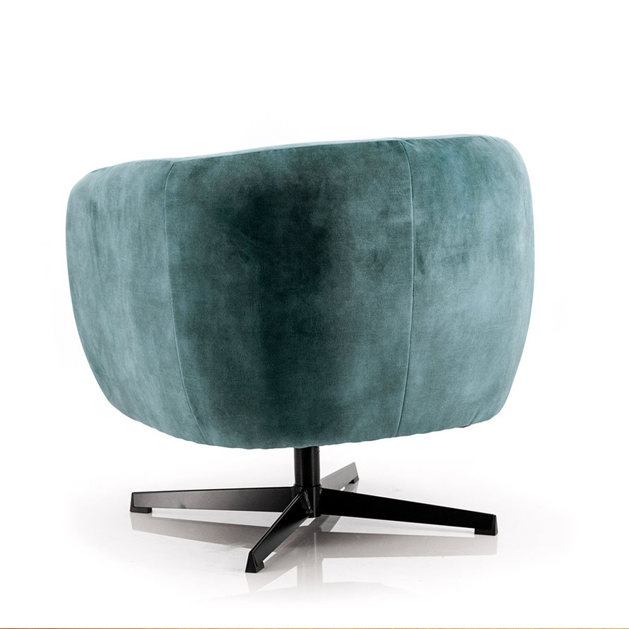 Velvet fauteuil Tori blauw