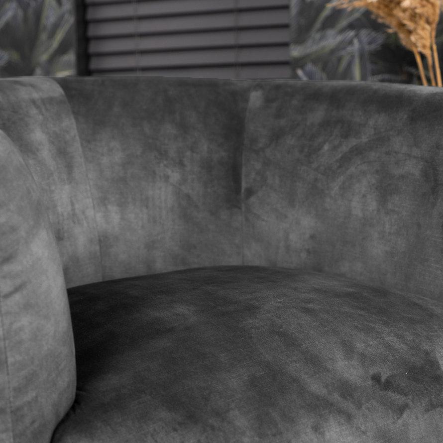 Velvet fauteuil Tori antraciet