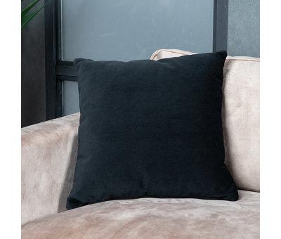 Bronx71 Sierkussen Anna velvet zwart 45 x 45 cm