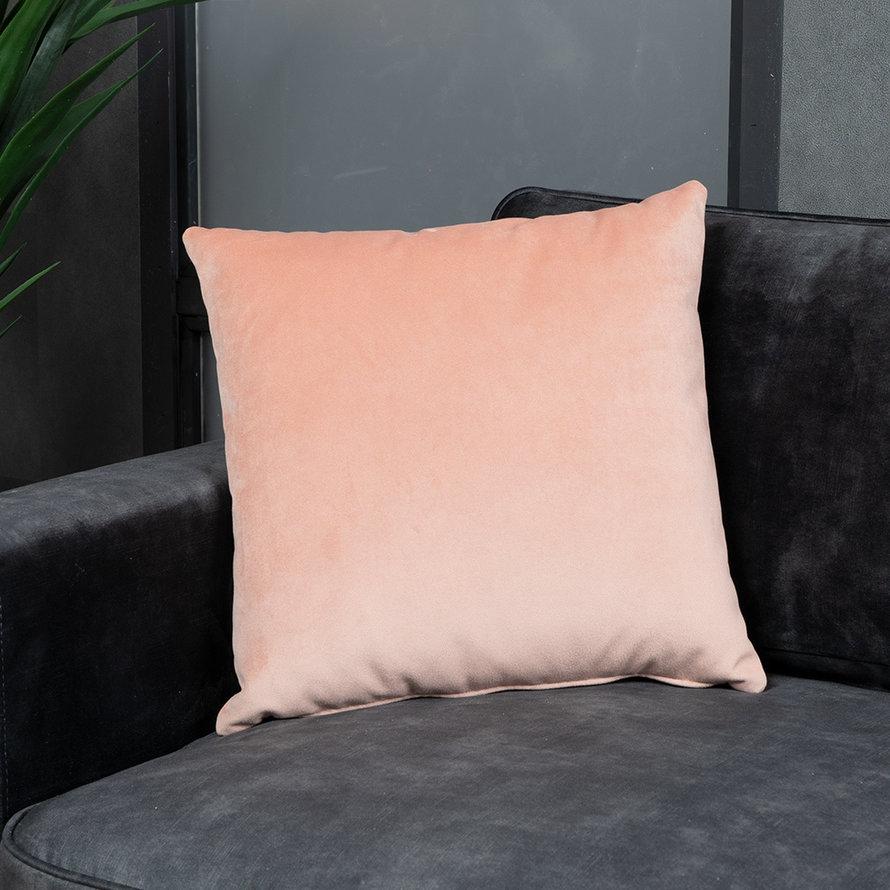 Sierkussen Anna velvet roze 45 x 45 cm
