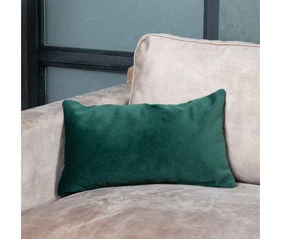 Bronx71 Sierkussen Anna velvet donkergroen 25 x 45 cm