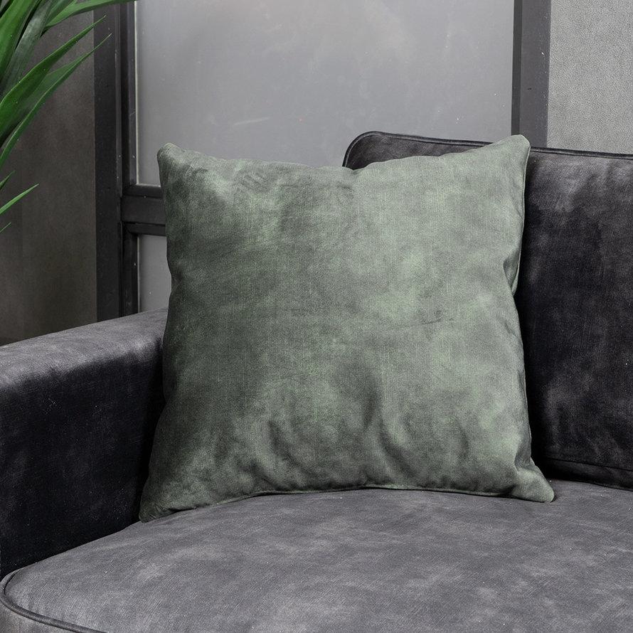 Sierkussen Beau velvet donkergroen 45 x 45 cm
