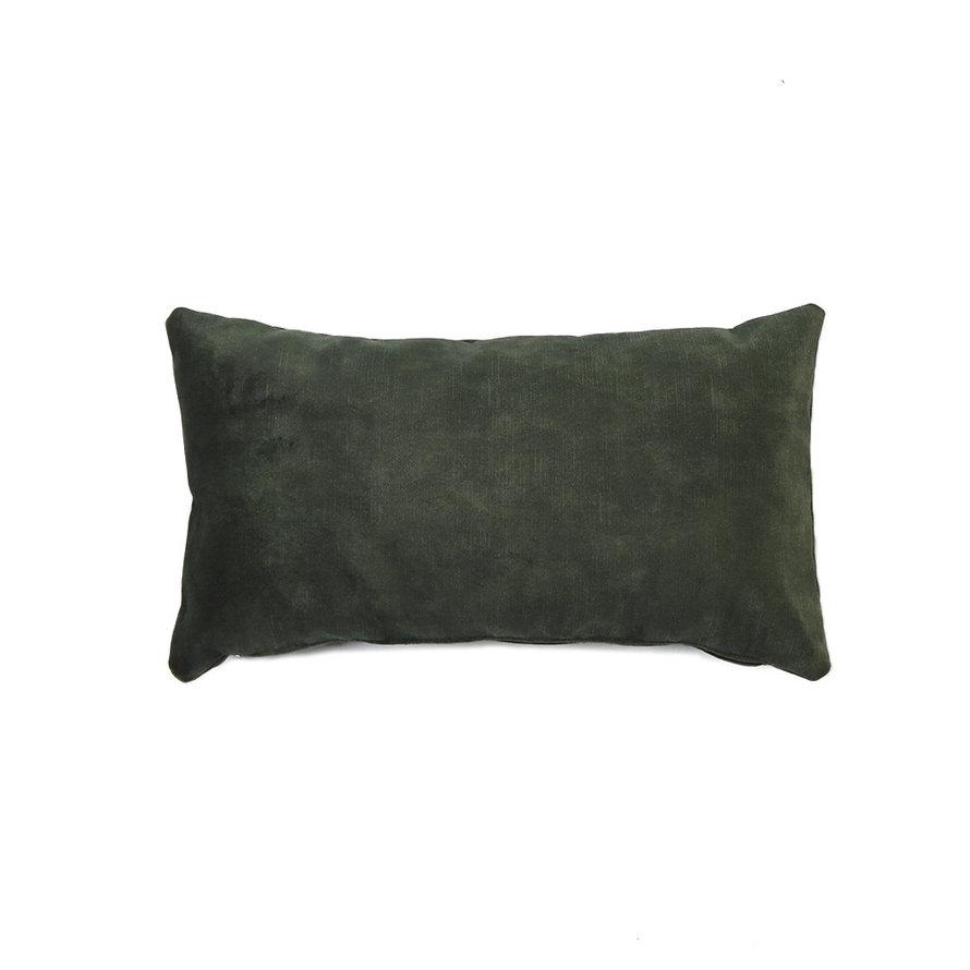 Sierkussen Beau velvet donkergroen 25 x 45 cm