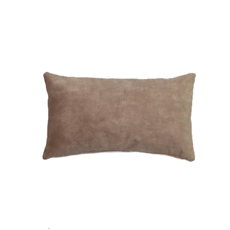 Sierkussen Beau velvet taupe 25 x 45 cm