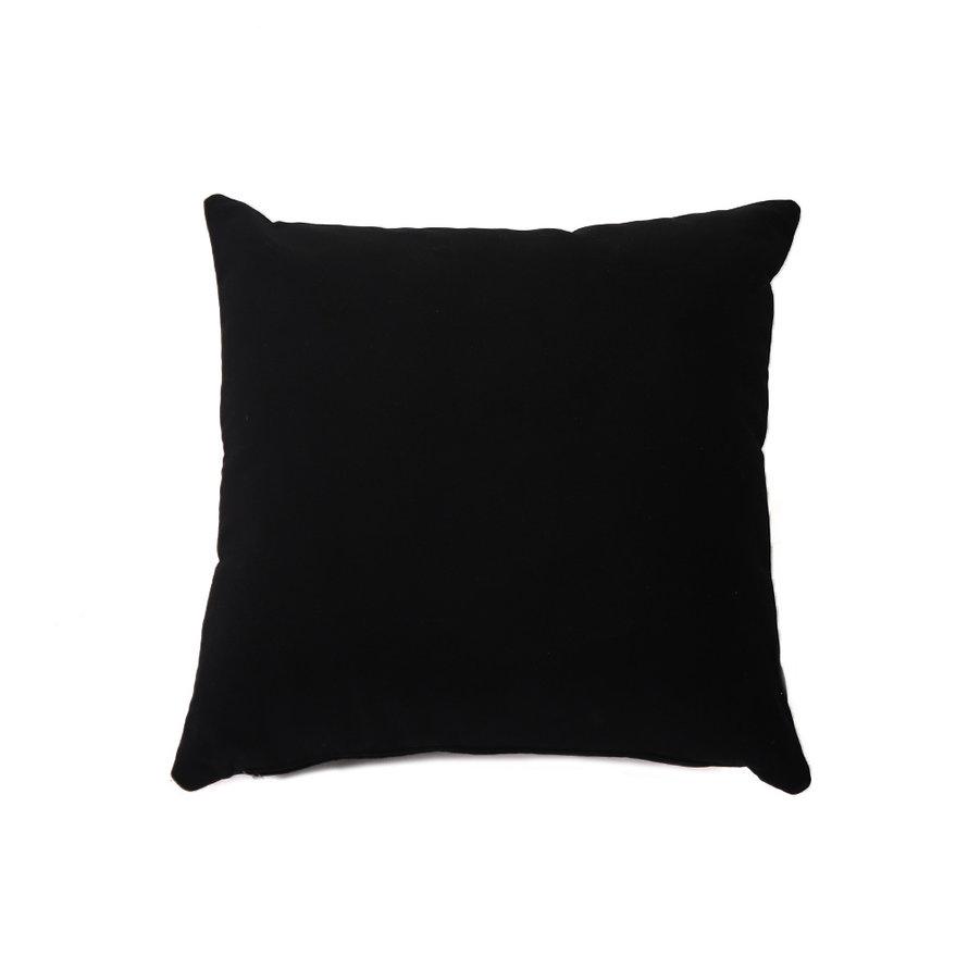 Sierkussen Anna velvet zwart 45 x 45 cm