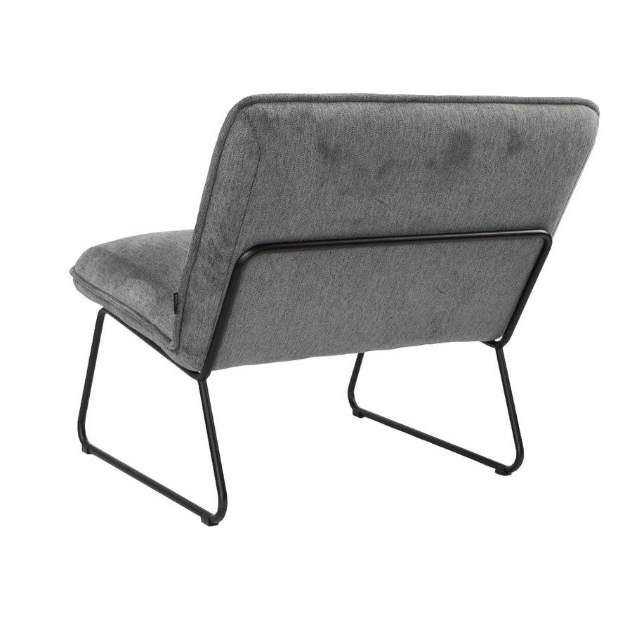Scandinavische fauteuil Merle antraciet stof gemêleerd