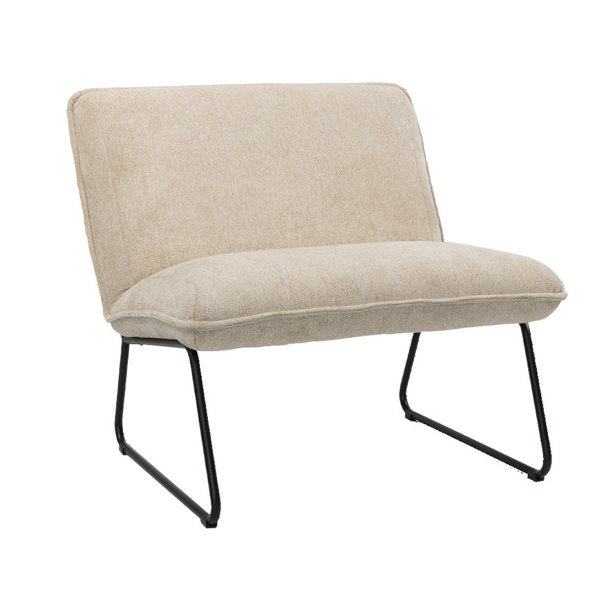 Fauteuil Merle taupe stof