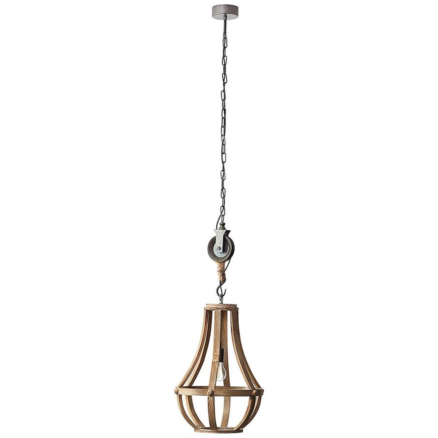 Industriële hanglamp Raf hout 1-lichts