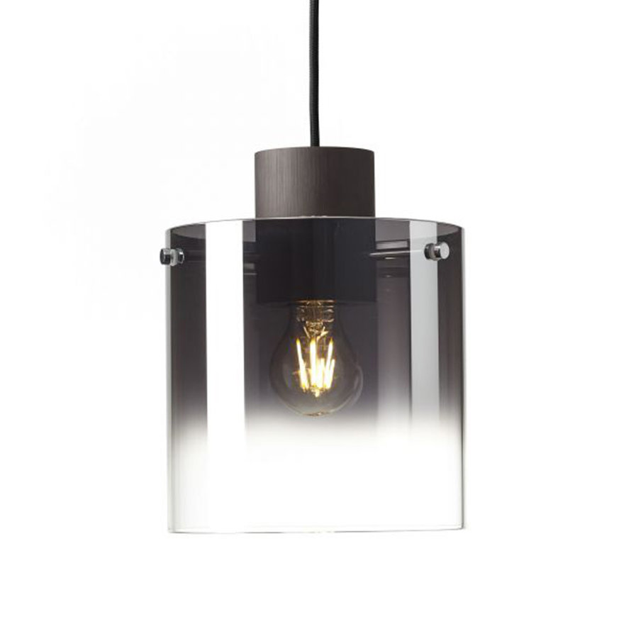 Hanglamp Mace 3-lichts smoked glas