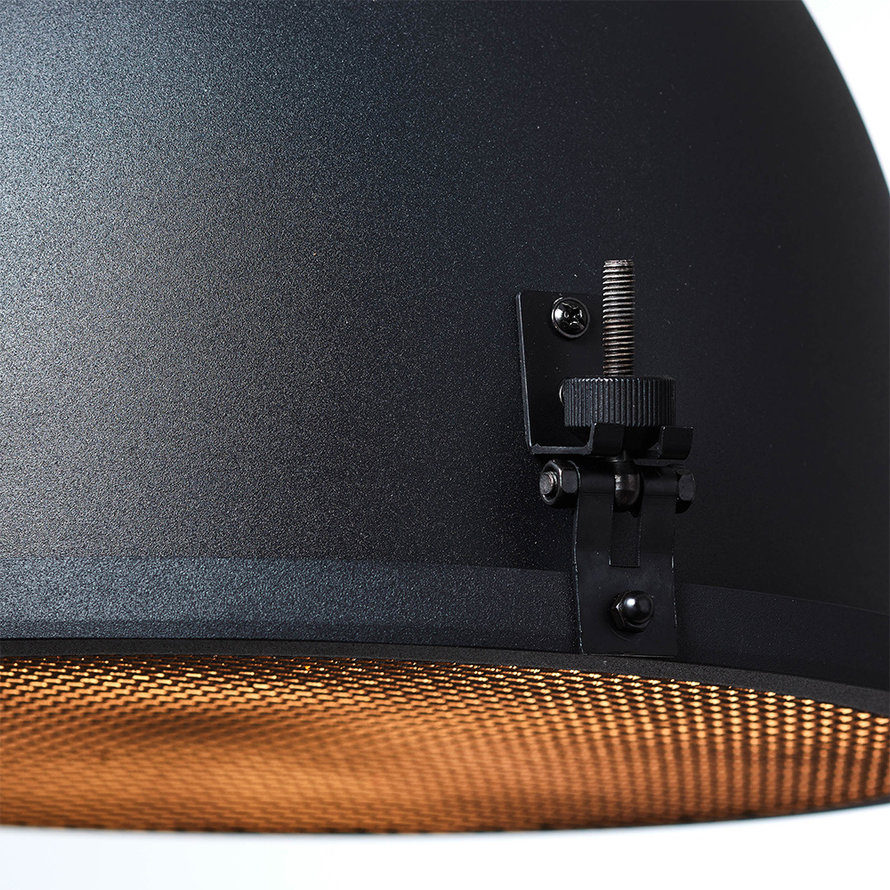 Industriële hanglamp Avi 2-lichts zwart