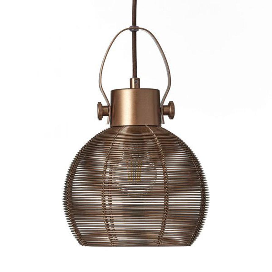 Hanglamp Yaiza 3-lichts metaal bruin
