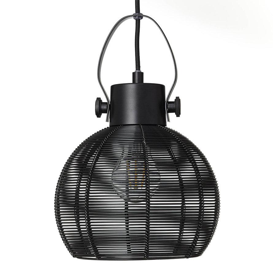 Hanglamp Yaiza 3-lichts metaal zwart