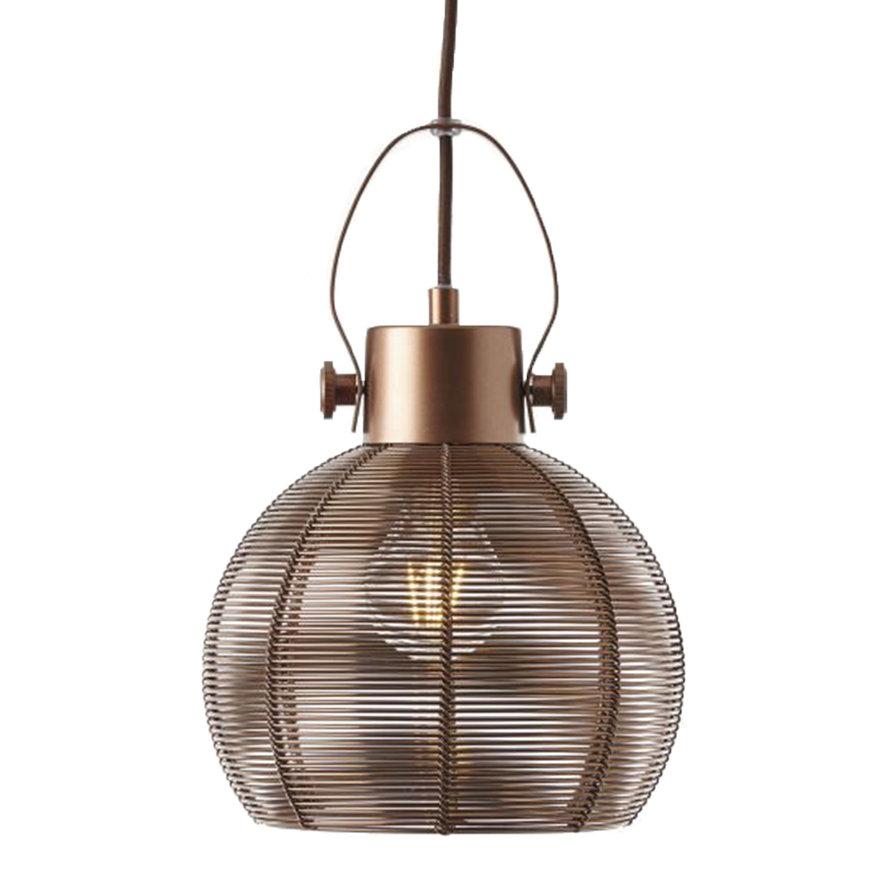 Hanglamp Yaiza 3-lichts bruin getrapt