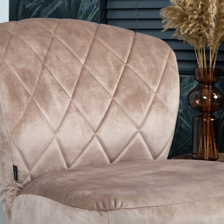 Velvet fauteuil Else taupe