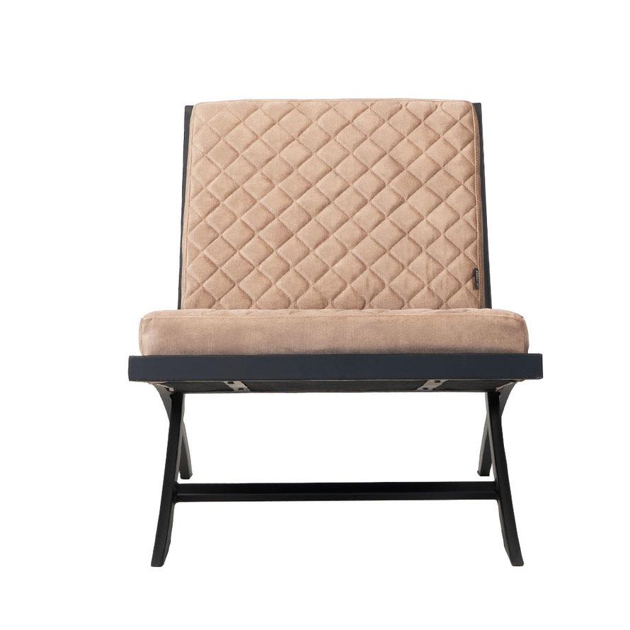 Design fauteuil Madrid velvet Luxury taupe